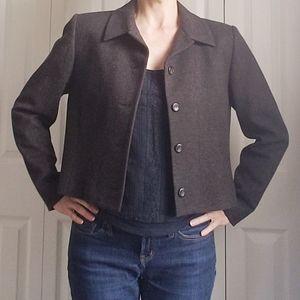 Pendleton Gray Wool Blazer Jacket Size 8, Made USA